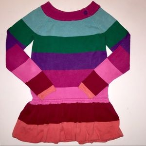 GAP Sweater Dress Knit Striped Girls Size Small